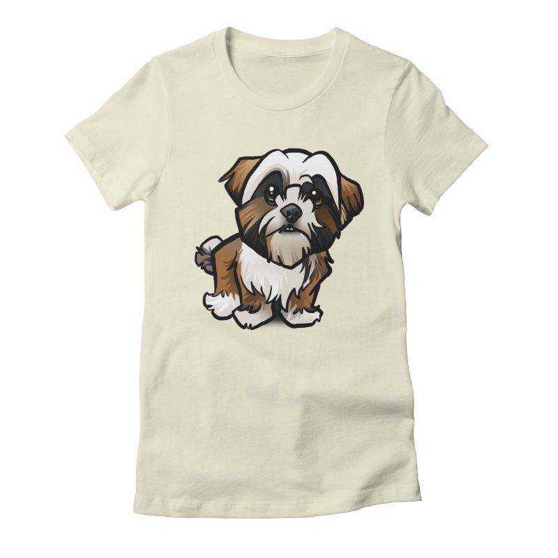 Shih Tzu Women's Fitted T-Shirt by binarygod's Artist Shop