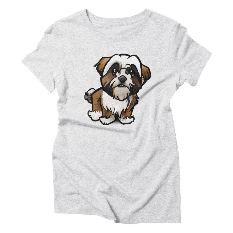 Shih Tzu Women's Triblend T-Shirt by binarygod's Artist Shop