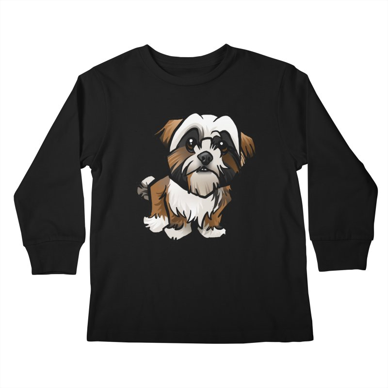 Shih Tzu Kids Longsleeve T-Shirt by binarygod's Artist Shop