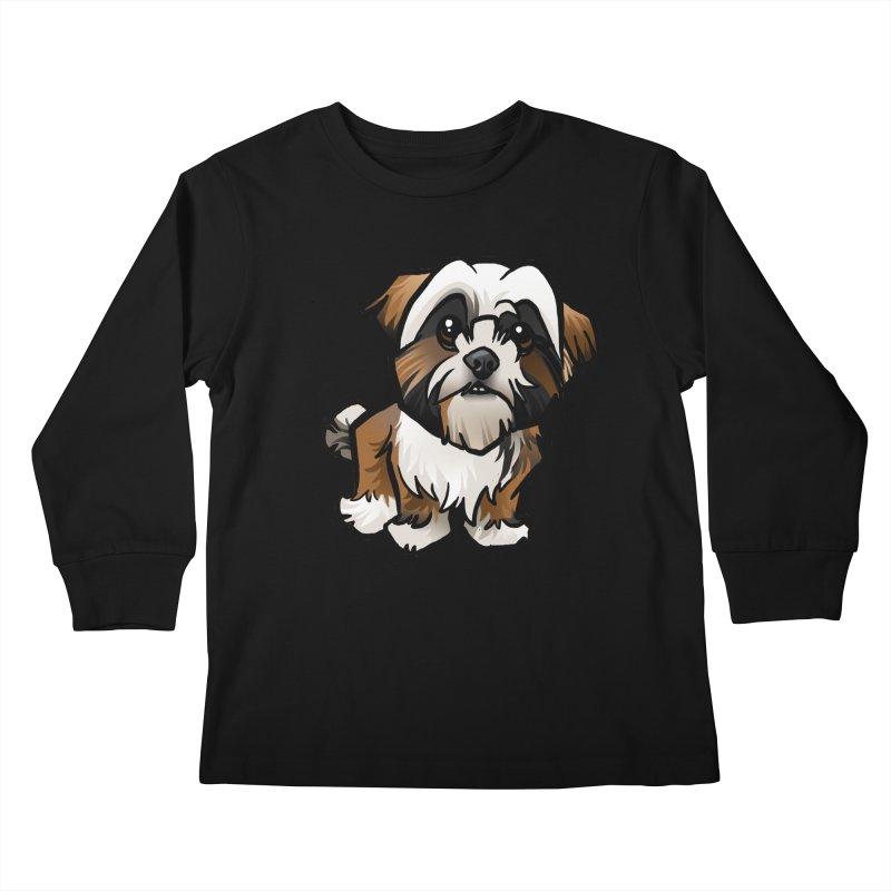 Shih Tzu Kids Longsleeve T-Shirt by binarygod's Artist Shop