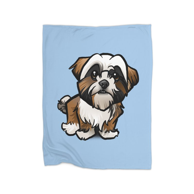 Shih Tzu Home Blanket by binarygod's Artist Shop