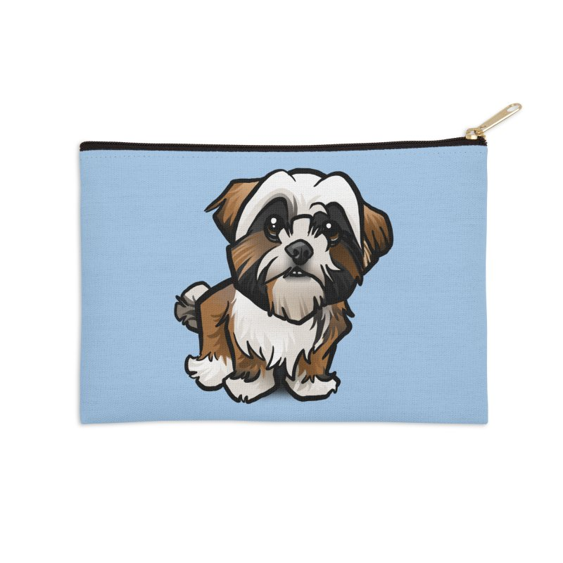 Shih Tzu Accessories Zip Pouch by binarygod's Artist Shop