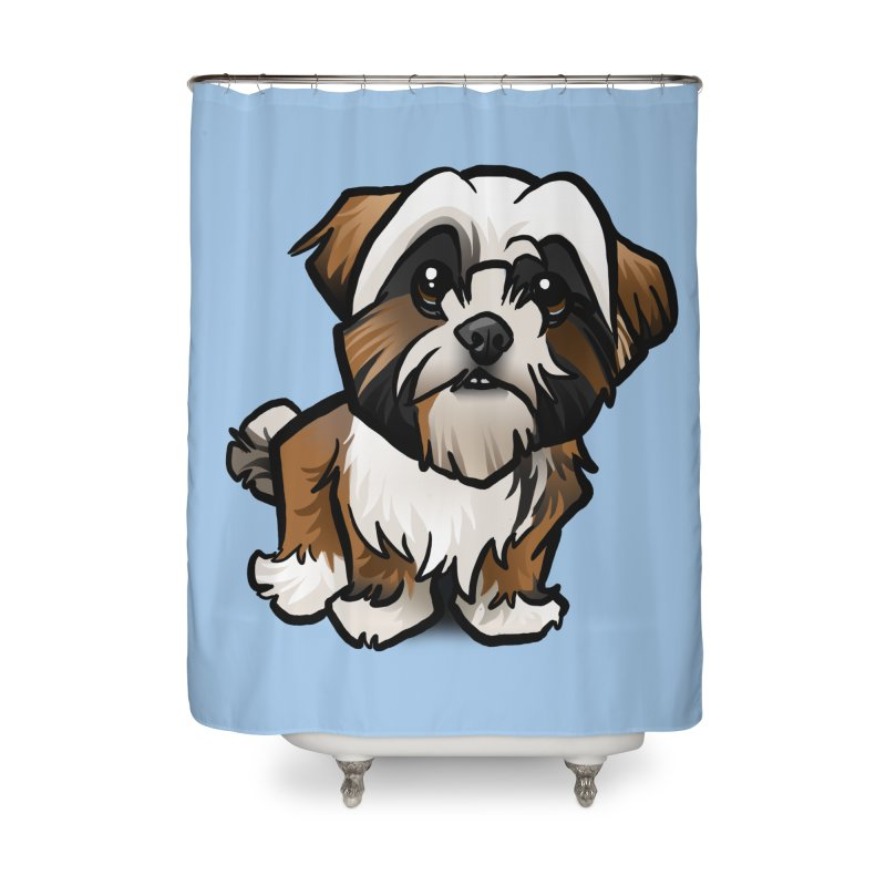 Shih Tzu Home Shower Curtain by binarygod's Artist Shop