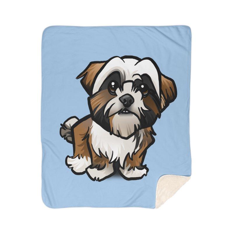 Shih Tzu Home Sherpa Blanket Blanket by binarygod's Artist Shop