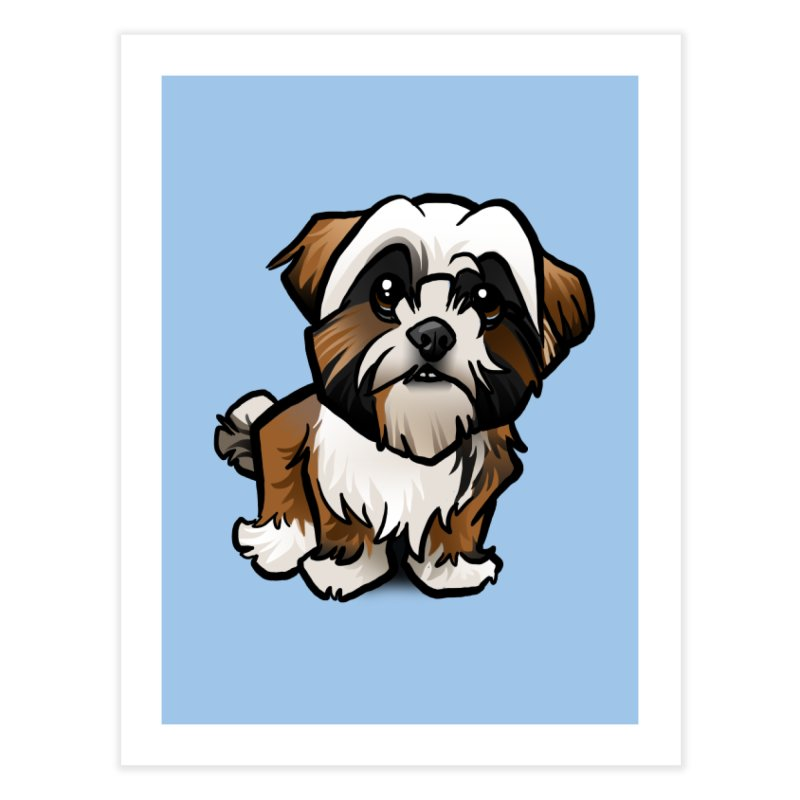Shih Tzu Home Fine Art Print by binarygod's Artist Shop