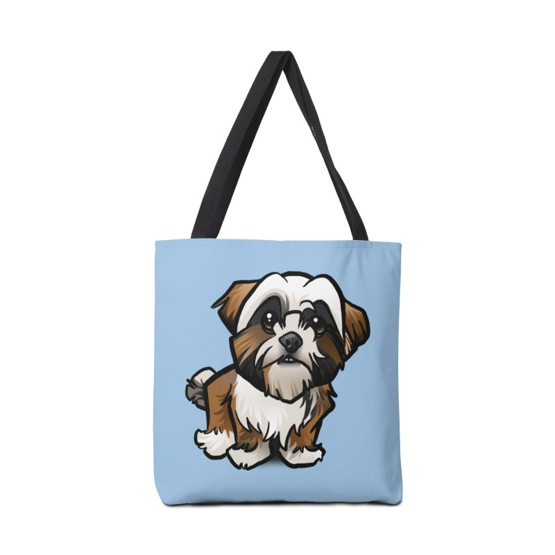 Shih Tzu Accessories Tote Bag Bag by binarygod's Artist Shop