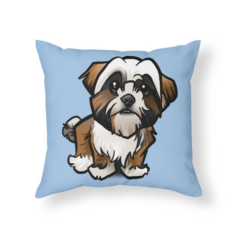 Shih Tzu Home Throw Pillow by binarygod's Artist Shop