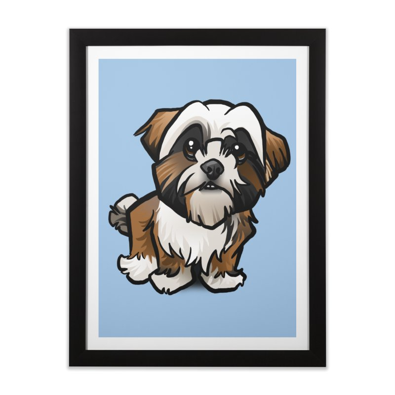 Shih Tzu Home Framed Fine Art Print by binarygod's Artist Shop