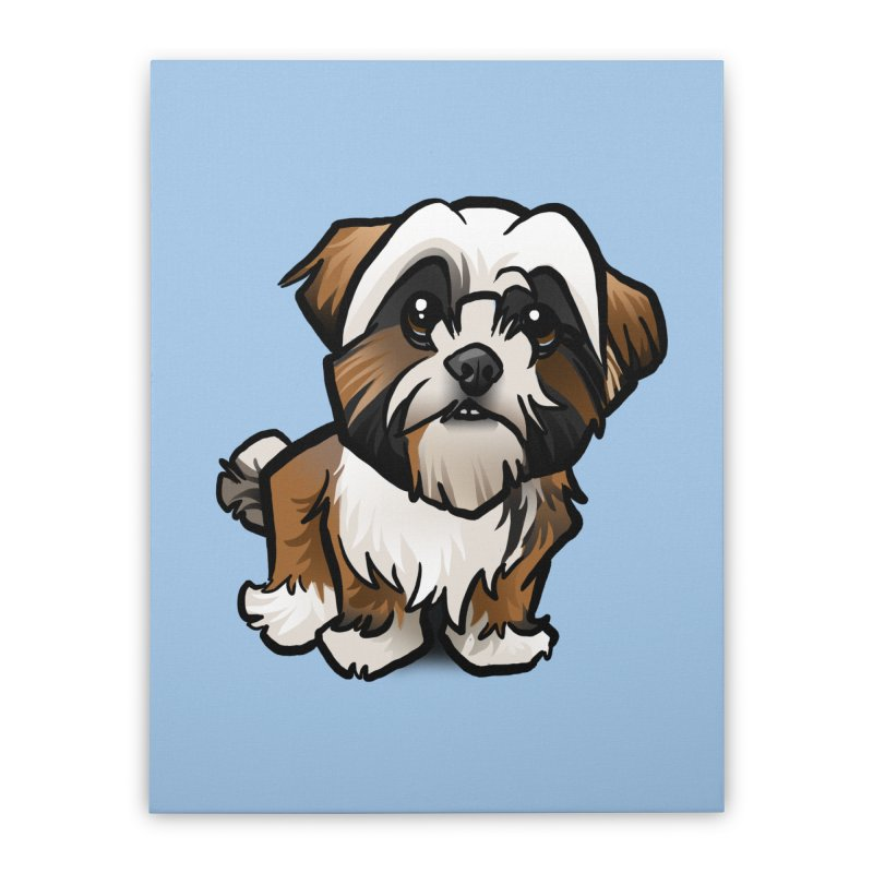 Shih Tzu Home Stretched Canvas by binarygod's Artist Shop