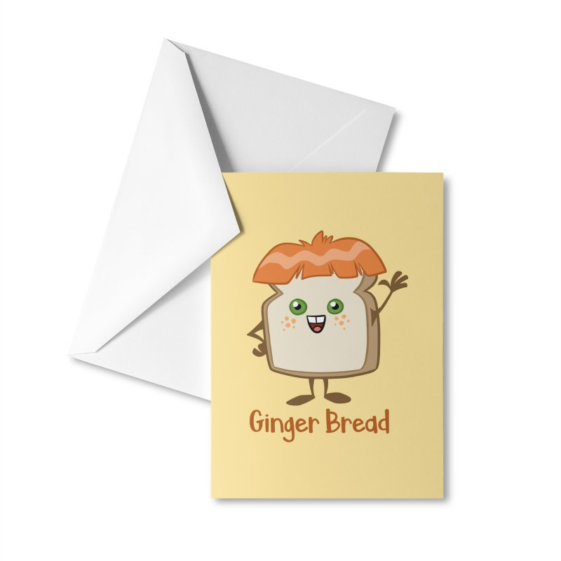 Ginger Bread Accessories Greeting Card by binarygod's Artist Shop