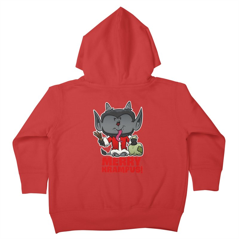 Merry Krampus Kids Toddler Zip-Up Hoody by binarygod's Artist Shop