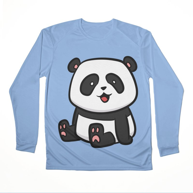 Kawaii Panda Women's Longsleeve T-Shirt by binarygod's Artist Shop