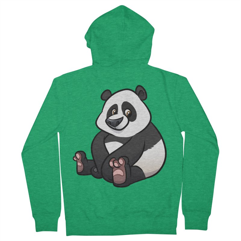 Giant Panda Women's Zip-Up Hoody by binarygod's Artist Shop