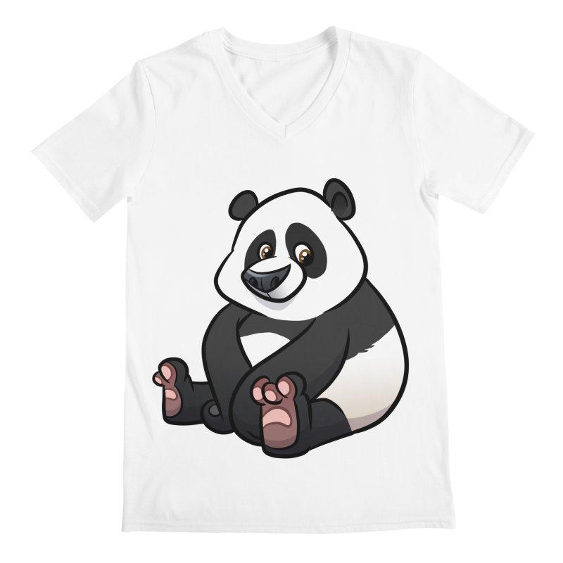 Giant Panda Men's V-Neck by binarygod's Artist Shop