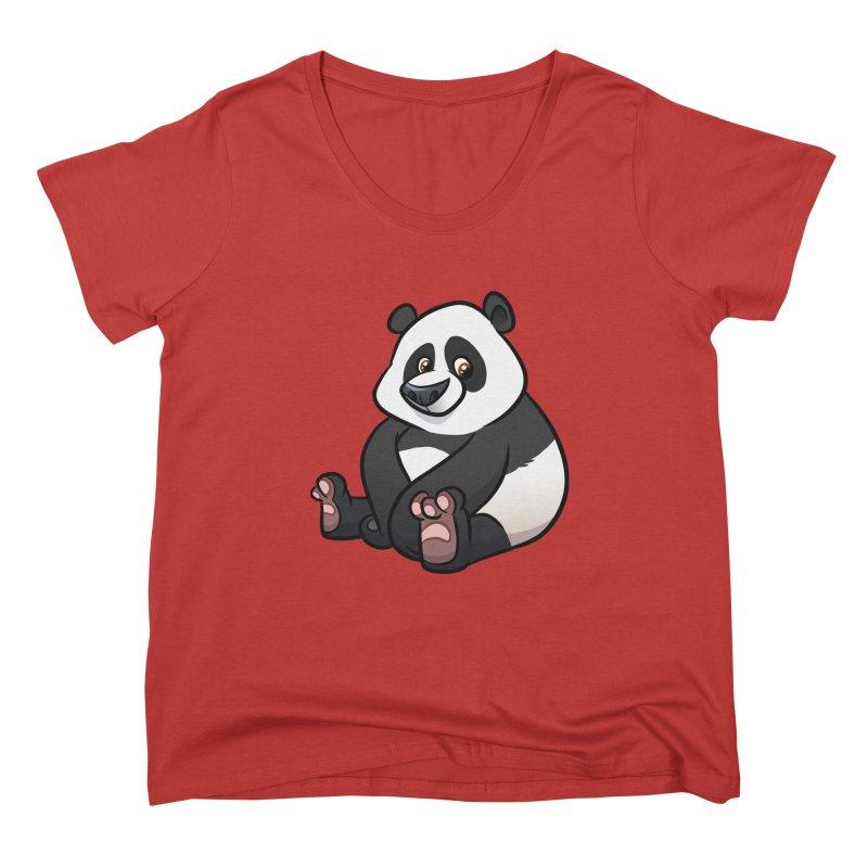 Giant Panda Women's Scoop Neck by binarygod's Artist Shop