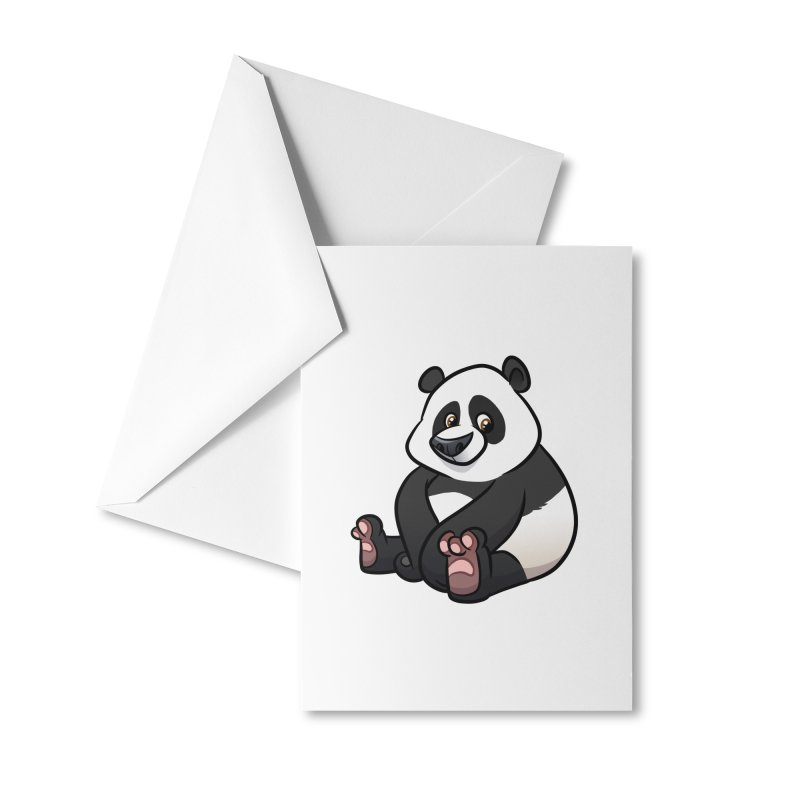 Giant Panda Accessories Greeting Card by binarygod's Artist Shop