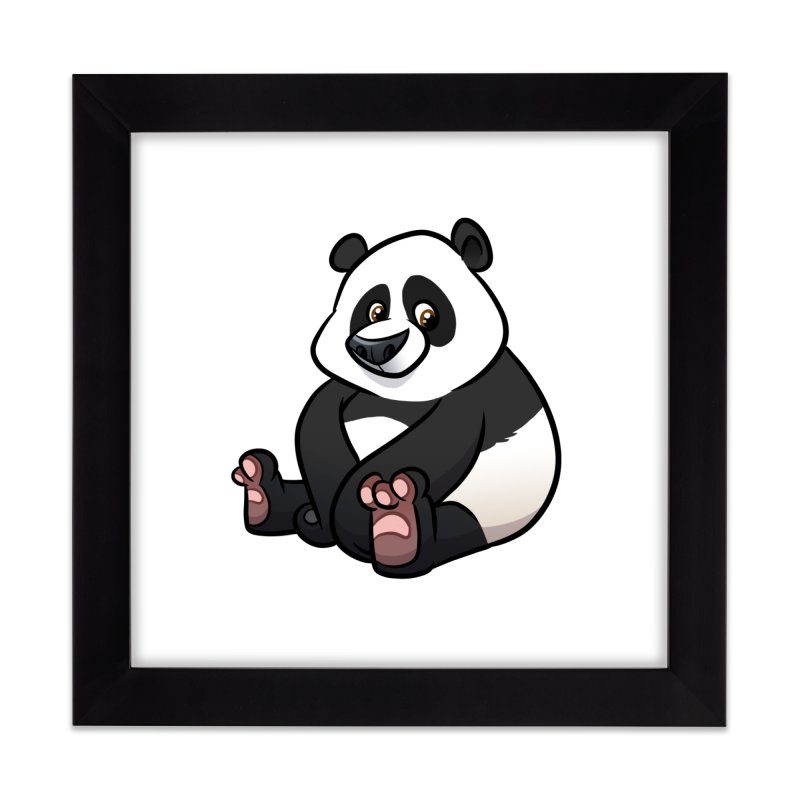 Giant Panda Home Framed Fine Art Print by binarygod's Artist Shop