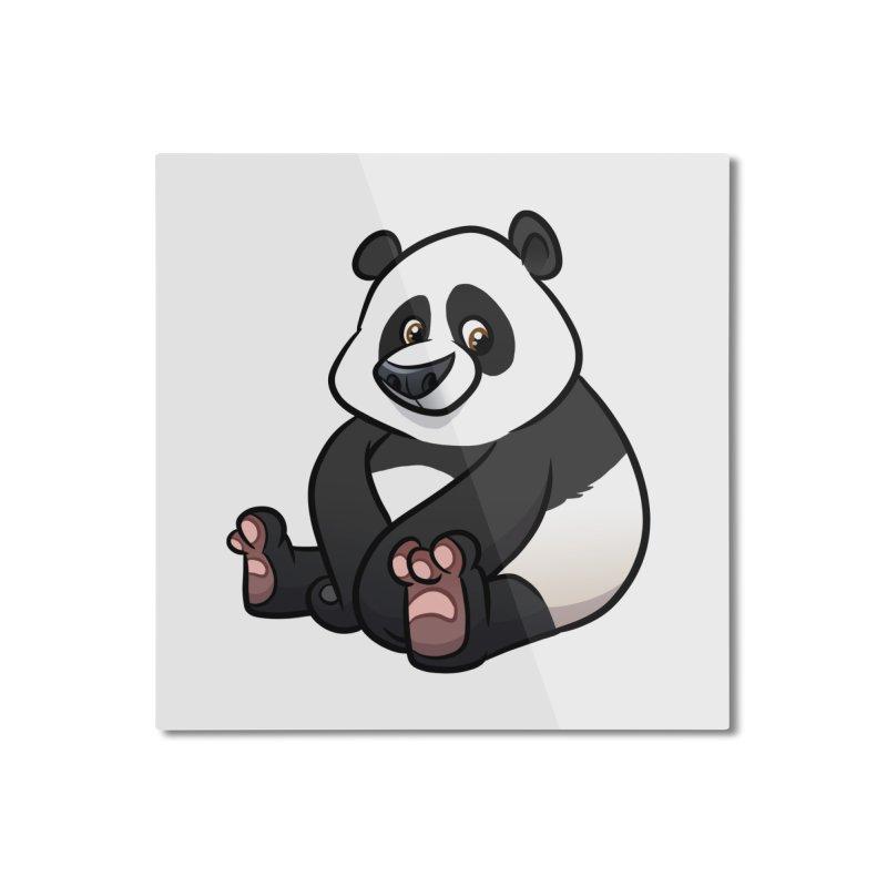 Giant Panda Home Mounted Aluminum Print by binarygod's Artist Shop