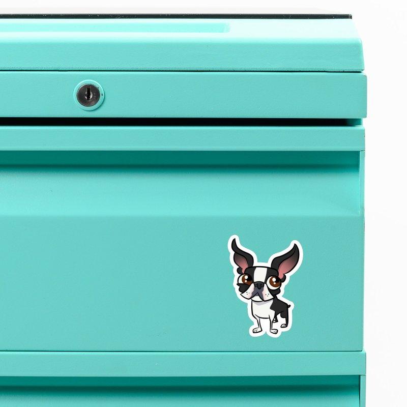 Boston Terrier Accessories Magnet by binarygod's Artist Shop
