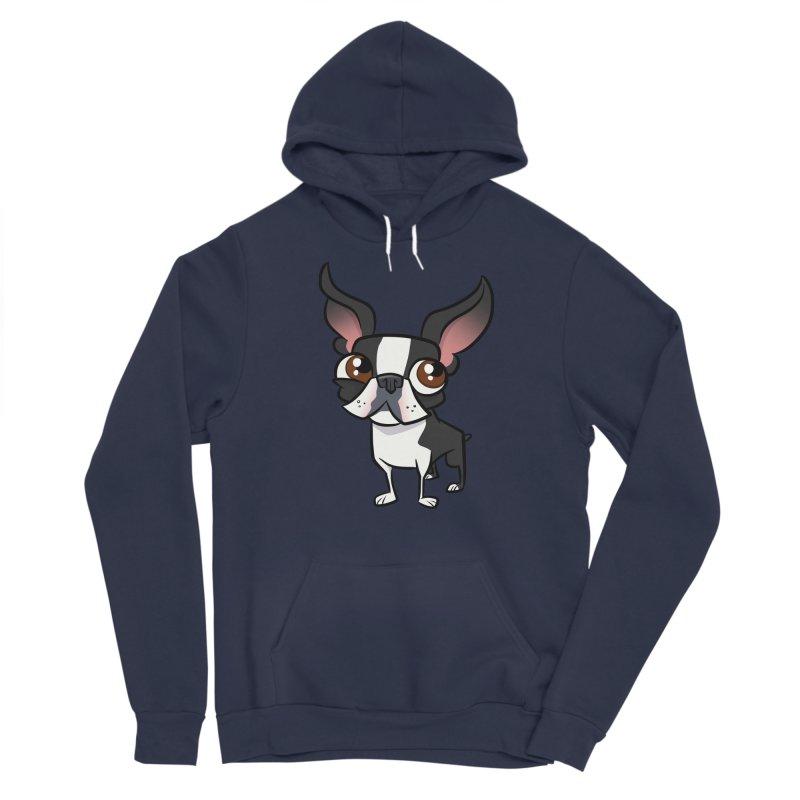 Boston Terrier Women's Pullover Hoody by binarygod's Artist Shop