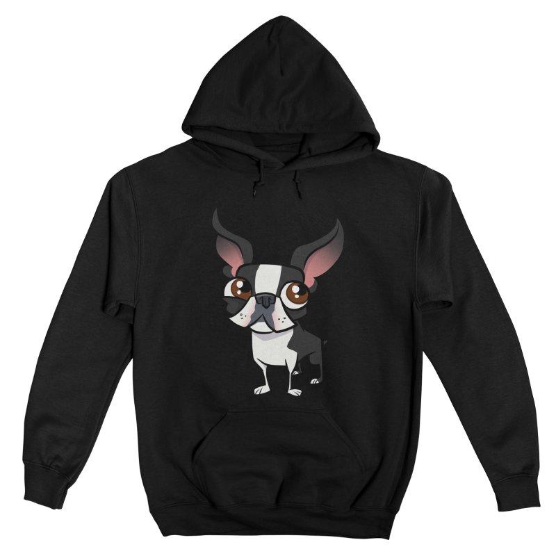 Boston Terrier Men's Pullover Hoody by binarygod's Artist Shop