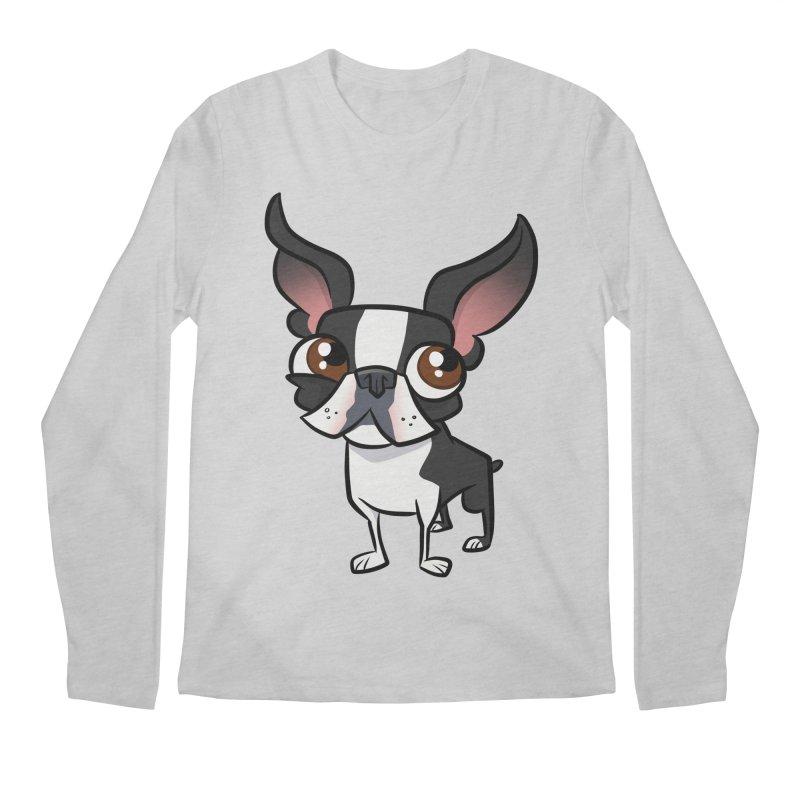 Boston Terrier Men's Longsleeve T-Shirt by binarygod's Artist Shop