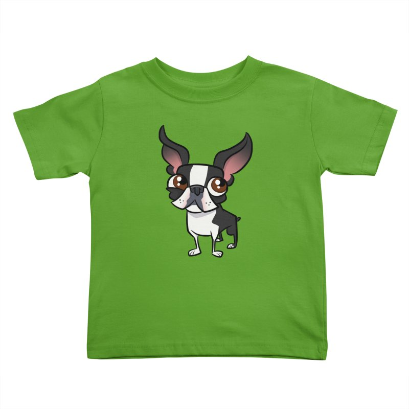 Boston Terrier Kids Toddler T-Shirt by binarygod's Artist Shop