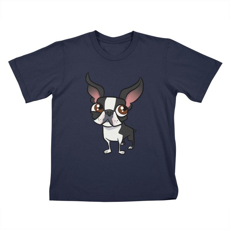Boston Terrier Kids T-Shirt by binarygod's Artist Shop