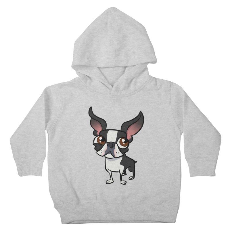 Boston Terrier Kids Toddler Pullover Hoody by binarygod's Artist Shop