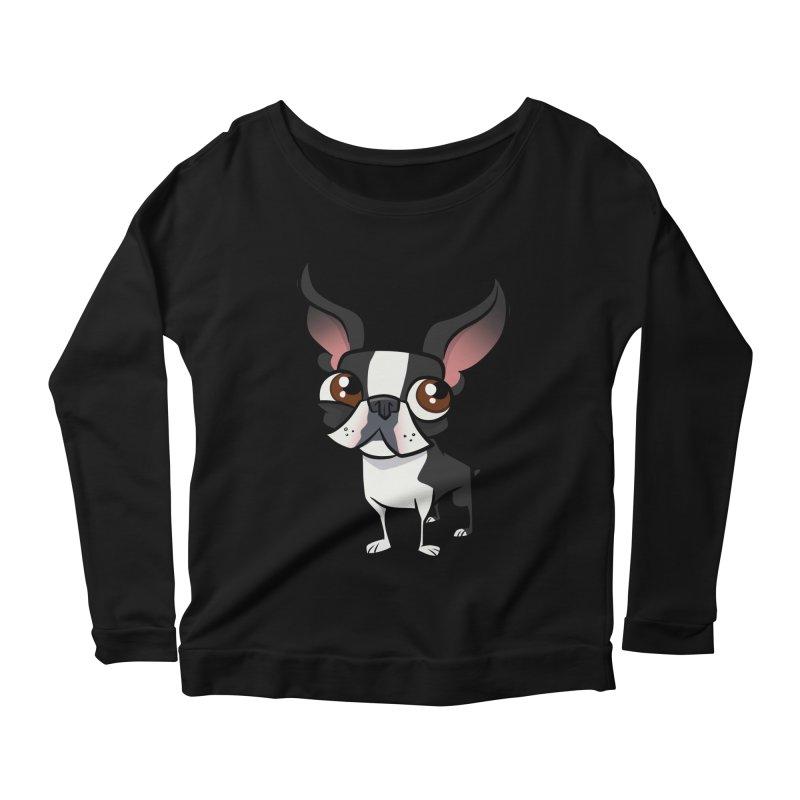 Boston Terrier Women's Longsleeve T-Shirt by binarygod's Artist Shop