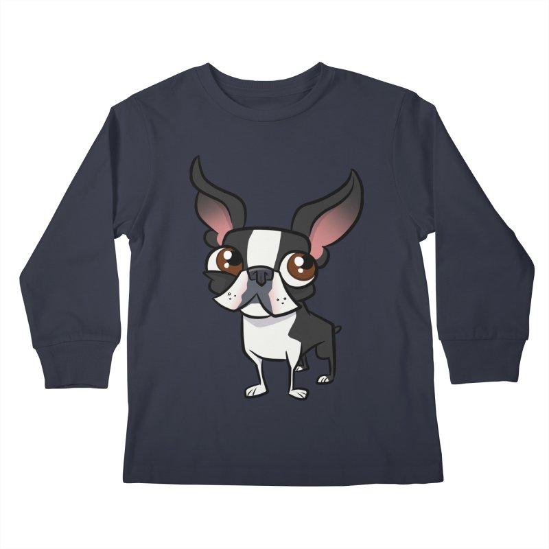 Boston Terrier Kids Longsleeve T-Shirt by binarygod's Artist Shop
