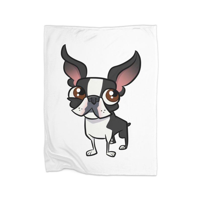 Boston Terrier Home Blanket by binarygod's Artist Shop