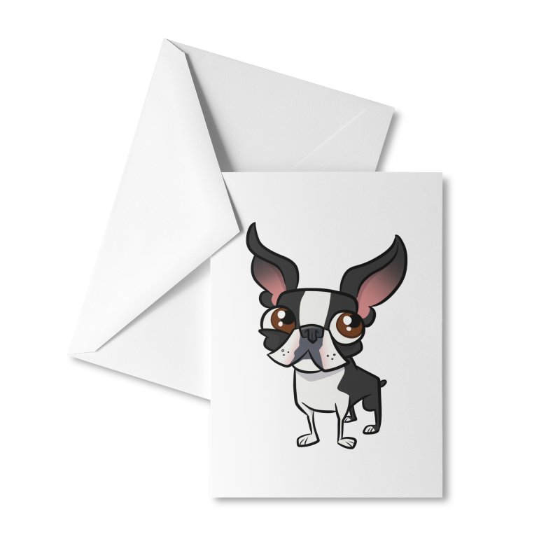 Boston Terrier Accessories Greeting Card by binarygod's Artist Shop