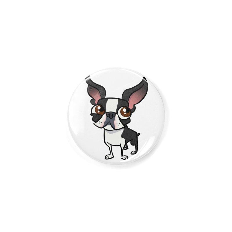 Boston Terrier Accessories Button by binarygod's Artist Shop