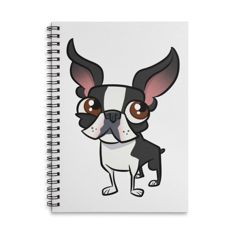 Boston Terrier Accessories Notebook by binarygod's Artist Shop