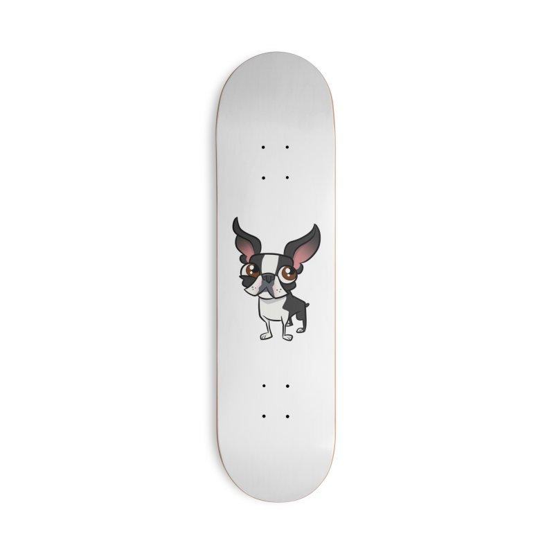 Boston Terrier Accessories Skateboard by binarygod's Artist Shop