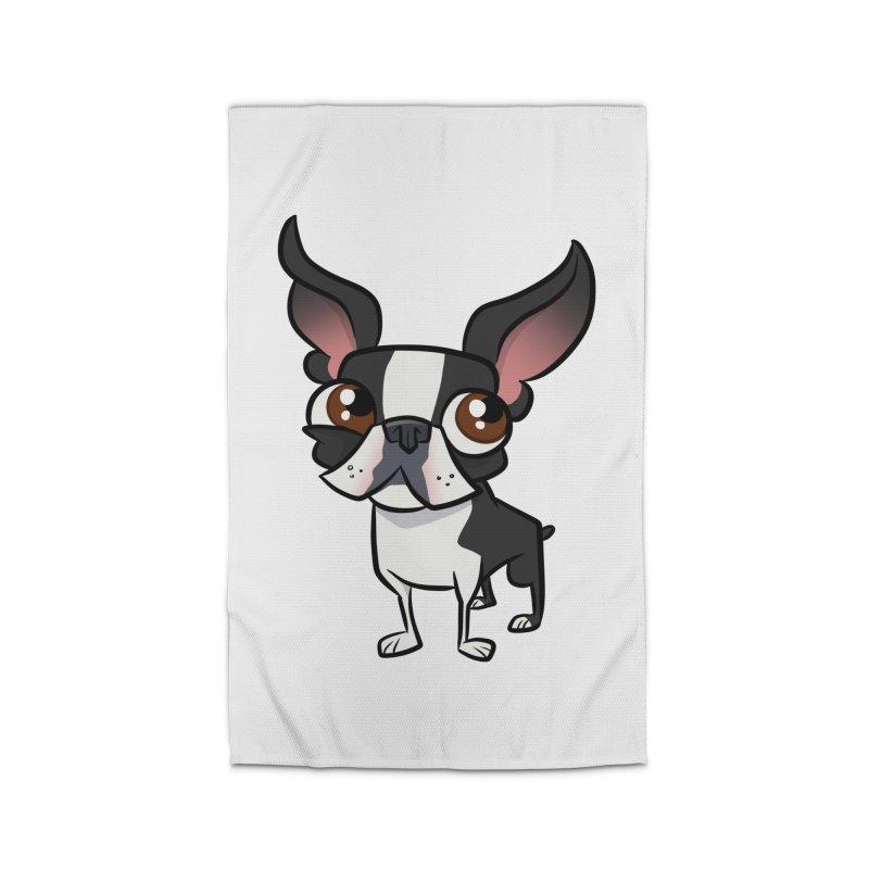 Boston Terrier Home Rug by binarygod's Artist Shop