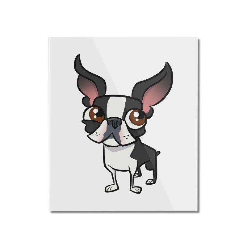 Boston Terrier Home Mounted Acrylic Print by binarygod's Artist Shop