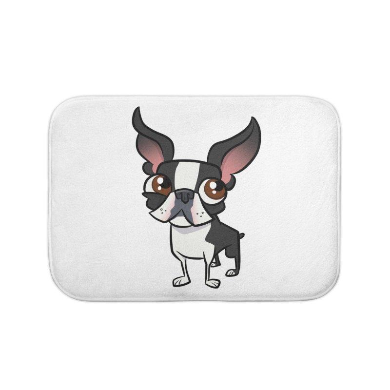 Boston Terrier Home Bath Mat by binarygod's Artist Shop