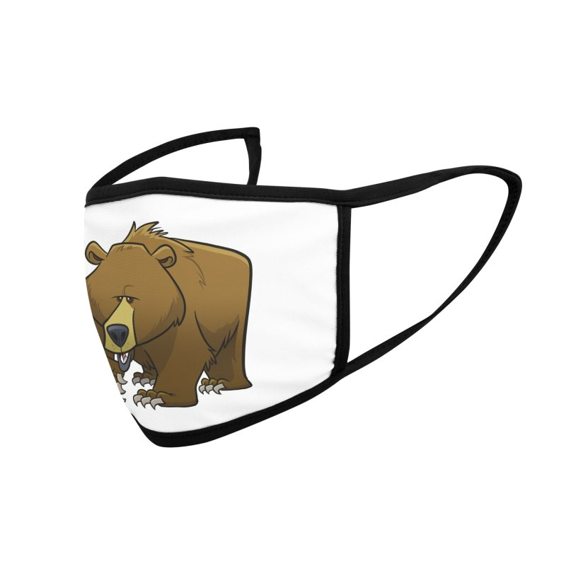 Grizzly Bear Accessories Face Mask by binarygod's Artist Shop