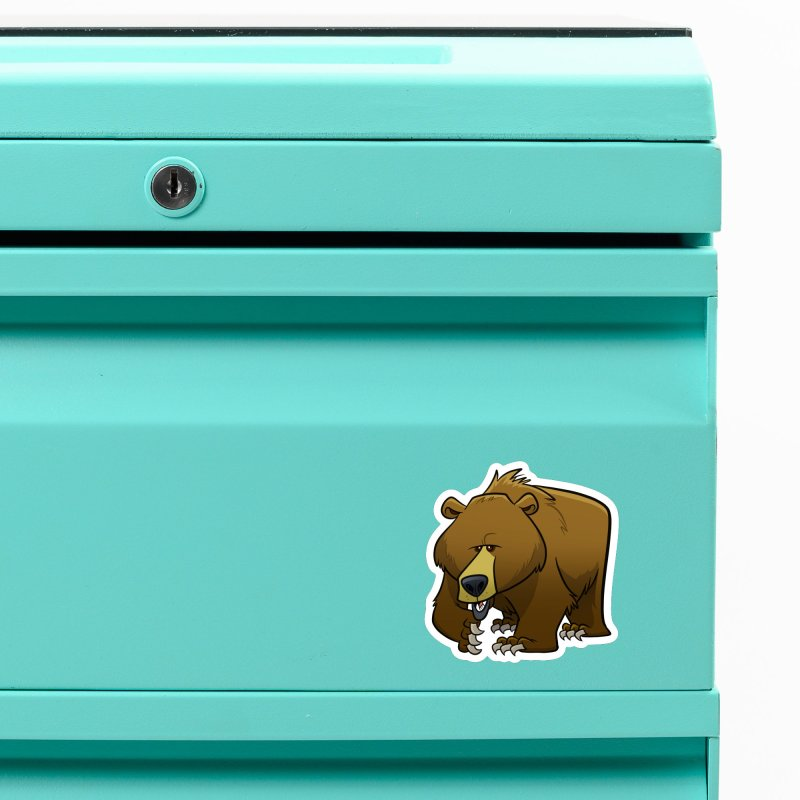 Grizzly Bear Accessories Magnet by binarygod's Artist Shop