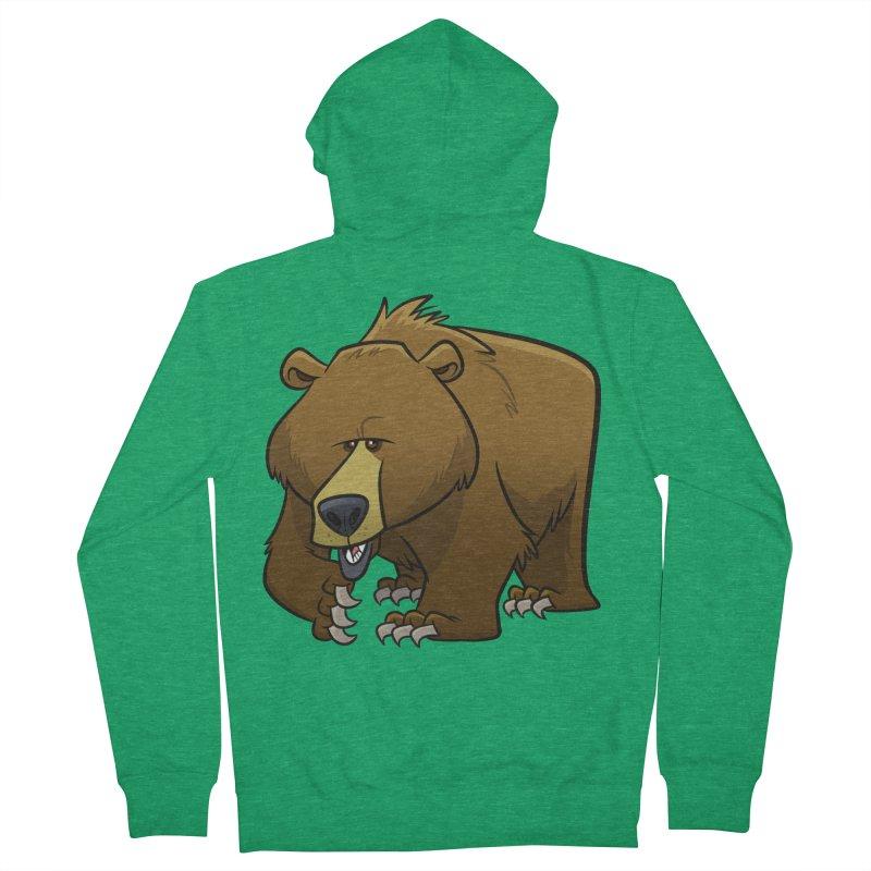 Grizzly Bear Women's Zip-Up Hoody by binarygod's Artist Shop