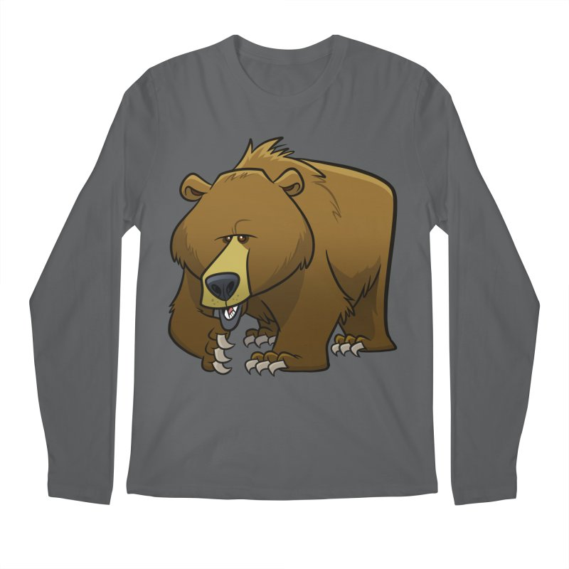Grizzly Bear Men's Longsleeve T-Shirt by binarygod's Artist Shop
