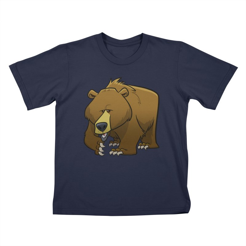 Grizzly Bear Kids T-Shirt by binarygod's Artist Shop