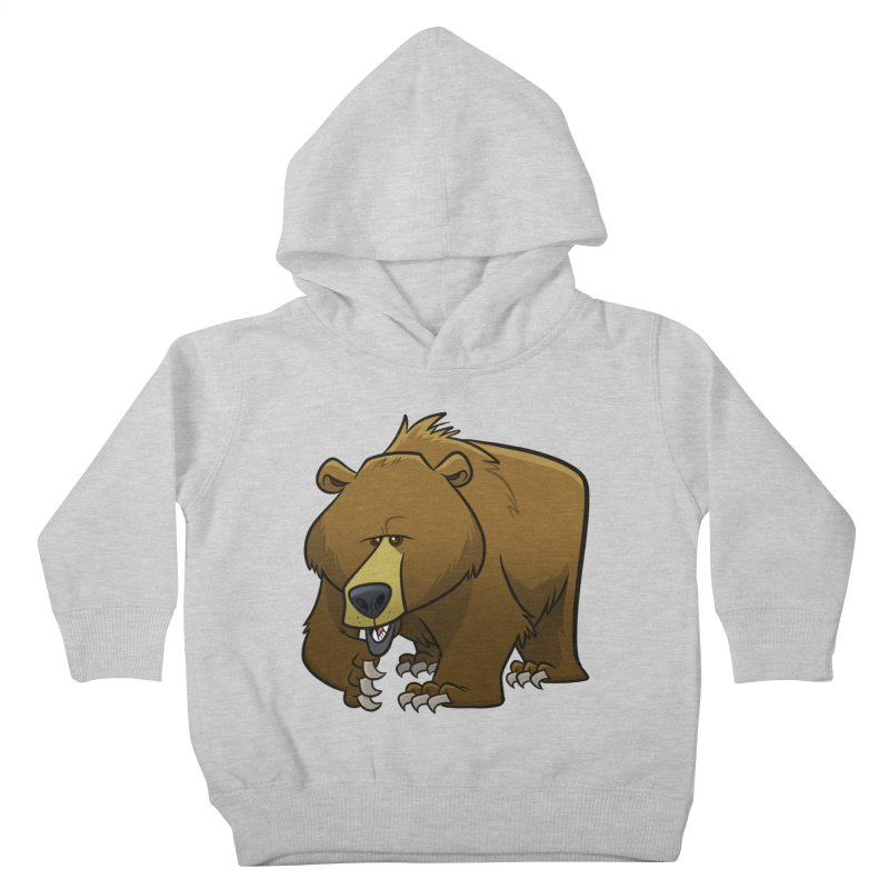Grizzly Bear Kids Toddler Pullover Hoody by binarygod's Artist Shop