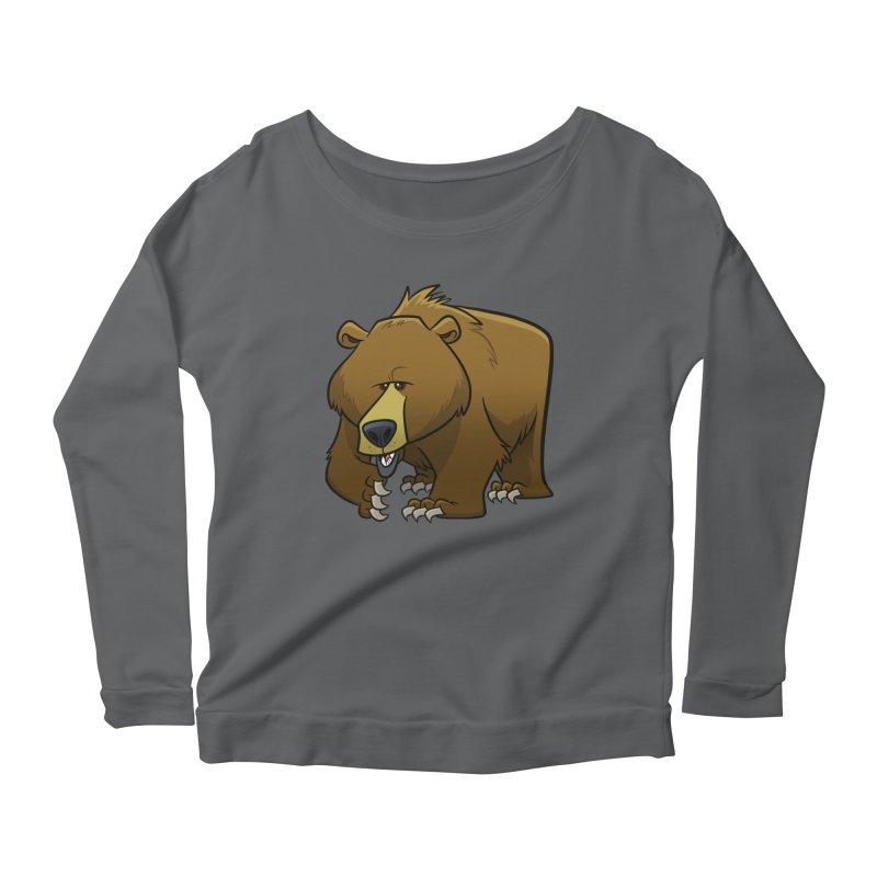 Grizzly Bear Women's Longsleeve T-Shirt by binarygod's Artist Shop