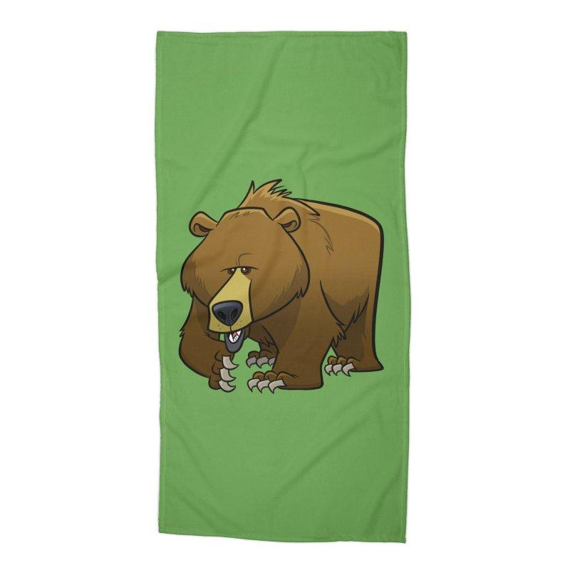 Grizzly Bear Accessories Beach Towel by binarygod's Artist Shop