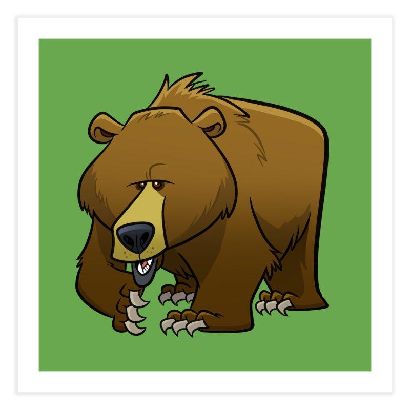 Grizzly Bear Home Fine Art Print by binarygod's Artist Shop