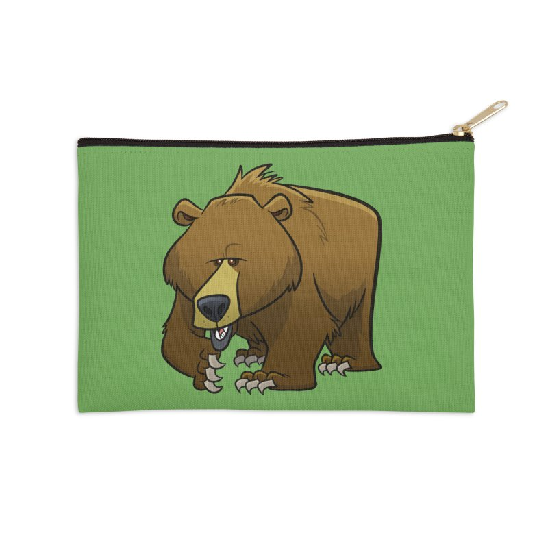 Grizzly Bear Accessories Zip Pouch by binarygod's Artist Shop