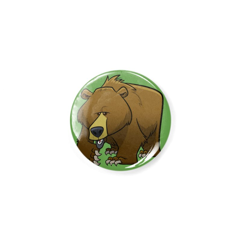 Grizzly Bear Accessories Button by binarygod's Artist Shop